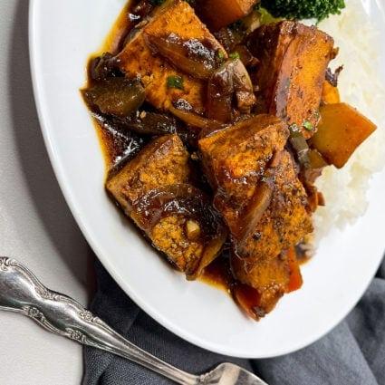 Vegan Brown Stew Chicken
