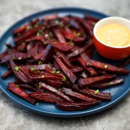 Beet Fries With Chipotle Aioli