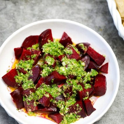 Roasted Beets with Chimichurri Sauce