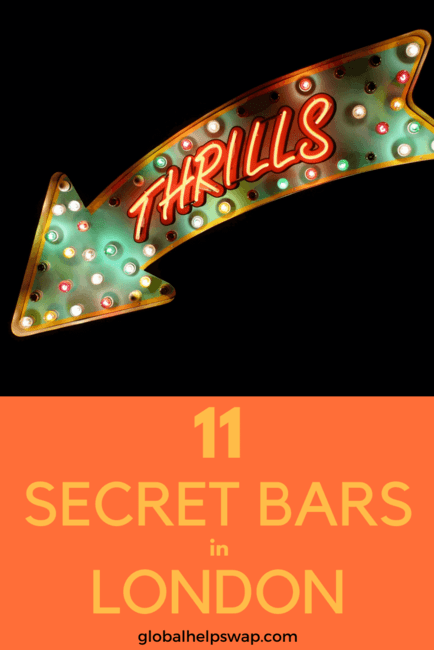 If you are looking for secret bars in London then you have come to the right place. These hidden speakeasies have the best cocktails in London. From quirky bars to super plush bars you will find them all here.