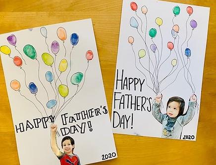 fathers day fingerprint card