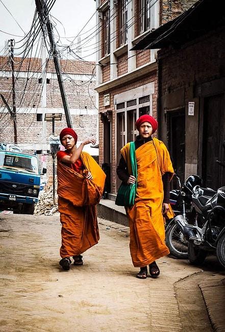 Monks in Bhaktapur Nepal