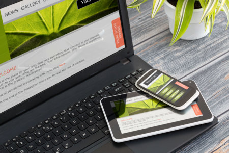 Effective website design on mobile and desktop