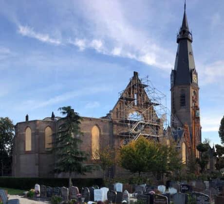 St. Urbanuskerk Bovenkerk na de brand in 2018