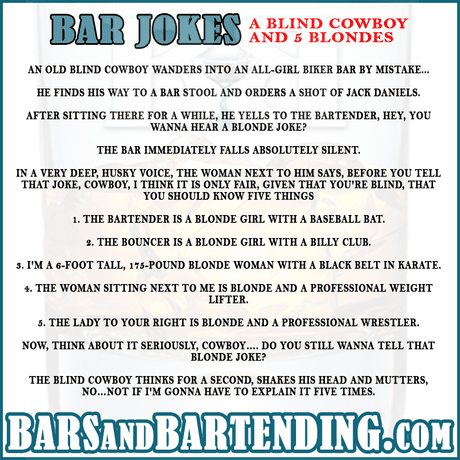 Cowboy and 5 Blondes Joke