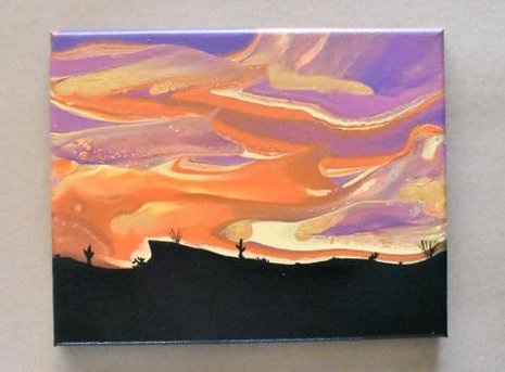 completed sunset painting