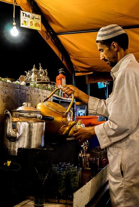 Djemaa el-Fna Mint Tea Marrakesh Morocco