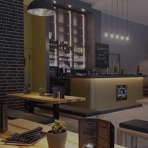 Das Edelcurry mieten - Raum für Firmenfeiern mieten