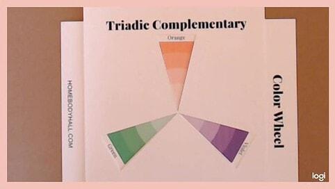triad color scheme: orange, green, violet