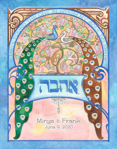 Vineyard Lovers Gift Blue by Mickie Caspi