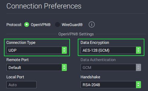 Private Internet Access OpenVPN data encryption strength (uTorrent)