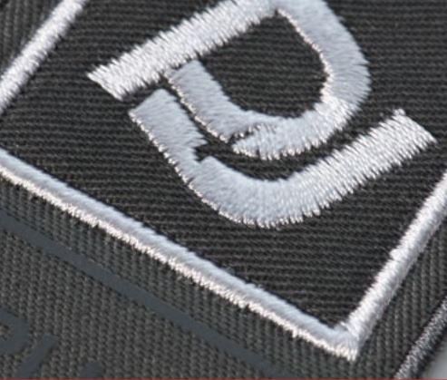 Applique borduursel, voor het vullenvan grotere vlakken in logos op bedrijfskleding en werkkleding