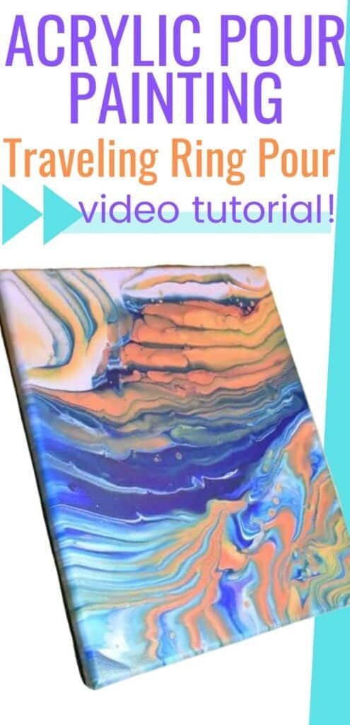 Acrylic Pour Painting Traveling Ring Pour Video Tutorial