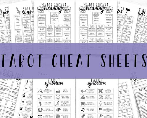 tarot cheat sheets