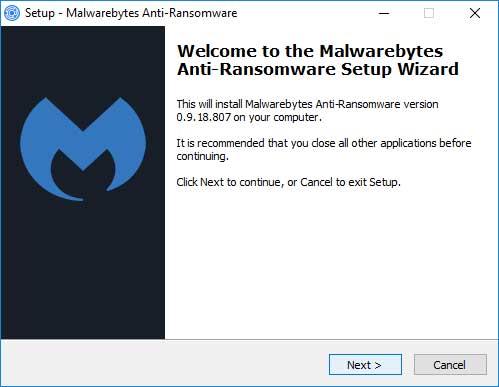 De installatie van Malwarebytes Anti-Ransomware is simpel.