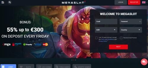 Megaslot casino Página web