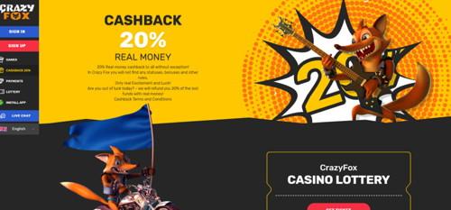 Crazyfox casino página web