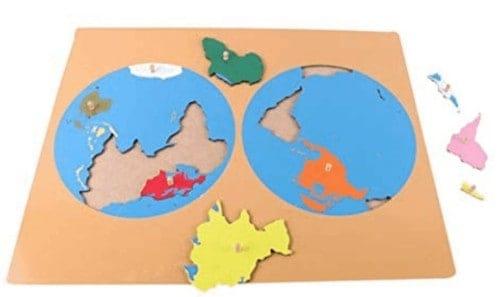 Montessori-Store Puzzle Carte du Monde