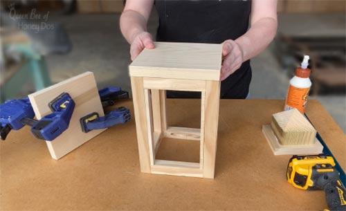 assembling wooden lantern