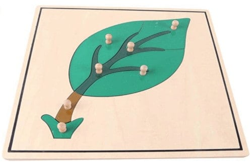 Montessori-Store Puzzle Feuille en Bois Haut de Gamme