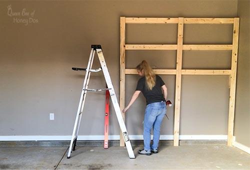 build garage shelves step 3