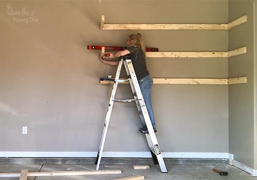 adding garage shelves end supports
