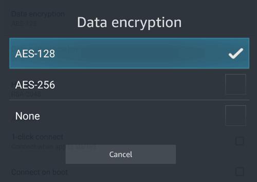 PIA encryption strength