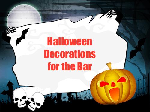 bar decorations for halloween