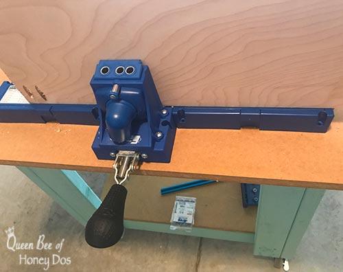 K5 pocket hole jig with plywood