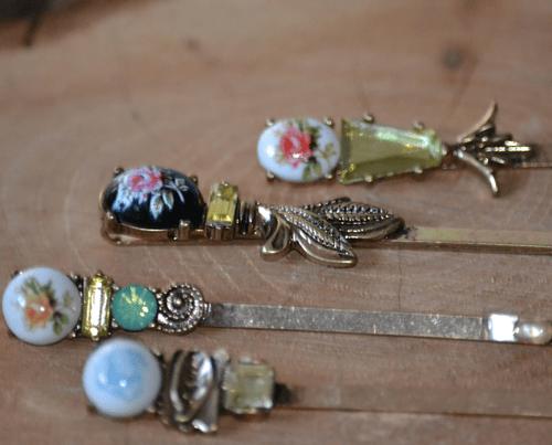 hair accessory Antique Victorian Brass Hair Bobby Pins