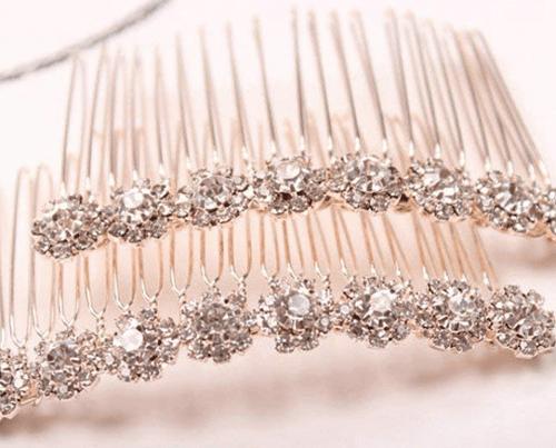 hair accessory Letshopping High-grade Alloy Diamond Tiara Comb