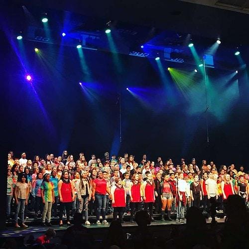 middle school choir concert performance