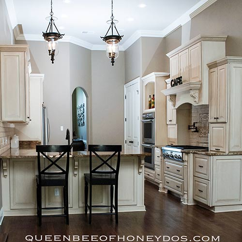 How to Install Stacked Cabinets Over Builder's Grade