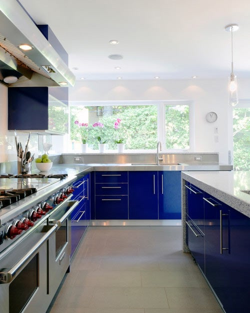 contemporary navy cabinets