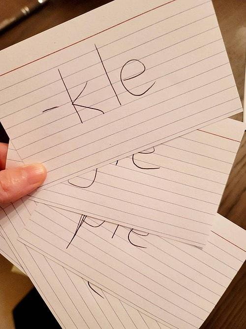 consonant le syllable flashcards