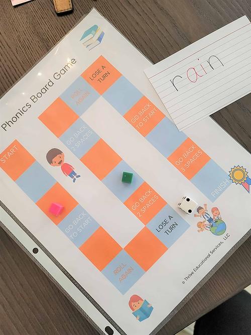 phonics board game printable