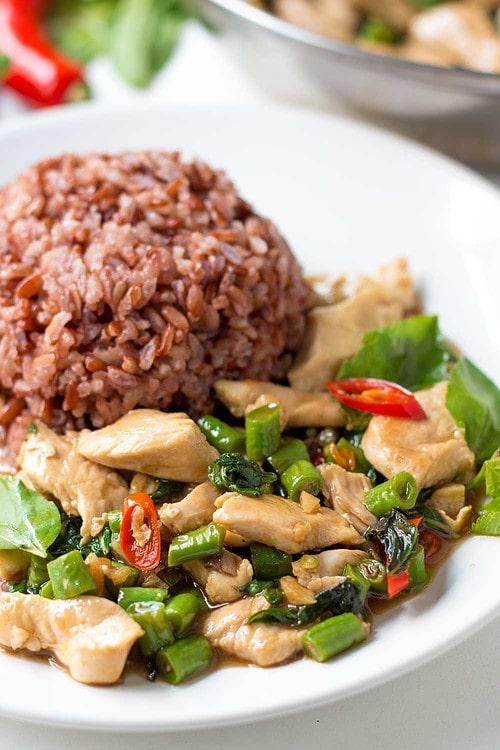 Thai Chicken Stir-fry with Rice