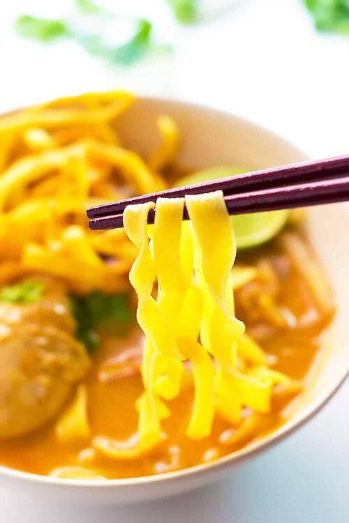 Eating Khao Soi