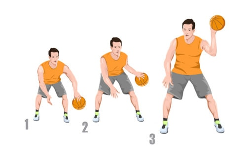 Head To Toes Basketball Dribbling Drill