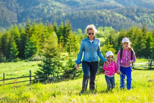 El turismo de montaña es ideal para familias