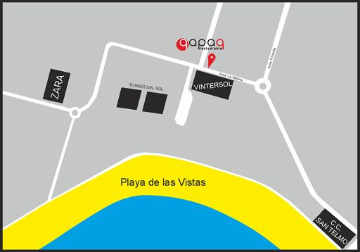 mapa de situación del restaurante qapaq