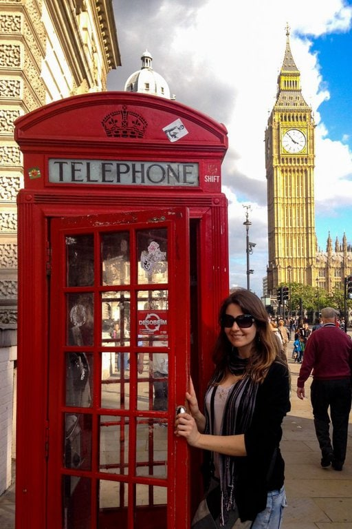 Phone booth & Big Ben London - Experiencing the Globe