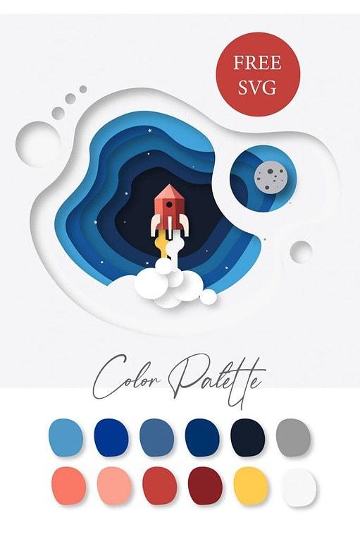 Digital image of Cricut card along with color palette