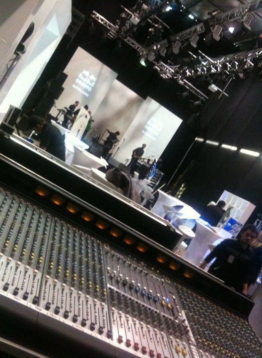 Setting up Stage and Sound System at NZ Fashion Week