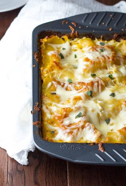 Cheesy Chicken Butternut Sage Lasagna