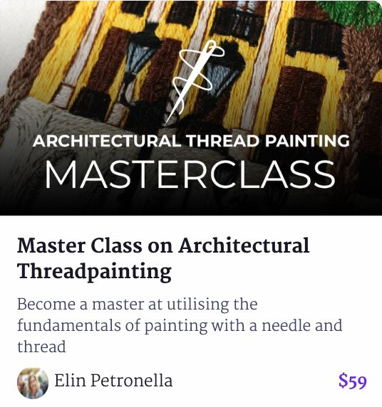 Architectural Thread Painting Master Class