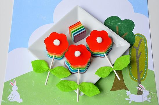 Cookies & Clogs Spring Bloomin' Gelatin Pops Rainbow Jello Recipe & Tutorial https://whynotmom.com.cookiesandclogs.com/bloomin-gelatin-pops-jello-recipe/