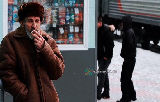 Фото - Мужчина курит