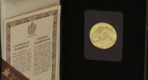 Certificado de autenticidad Oro