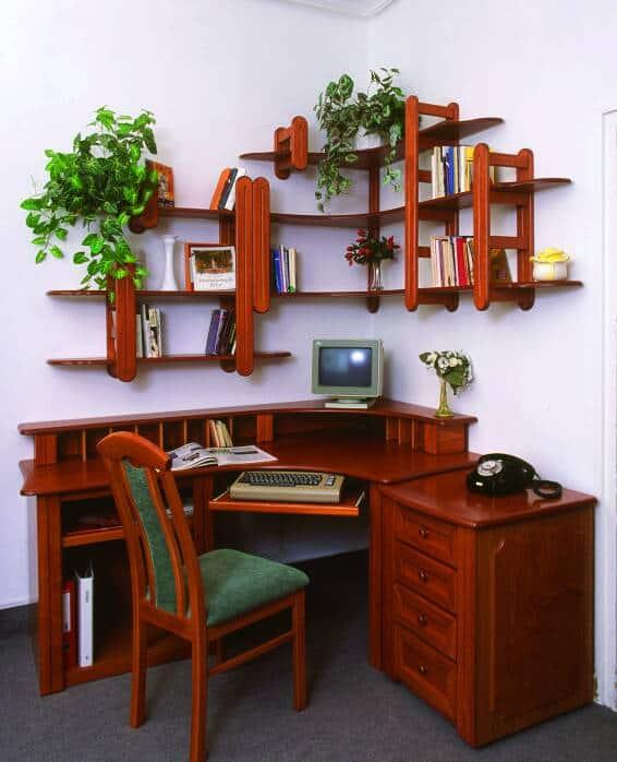 sarok íróasztal fiókos szekrénnyel